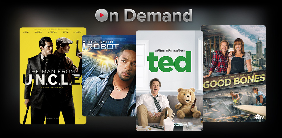 Featured On Demand content includes Yellowstone and Grown Ups.