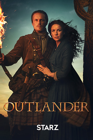 Claire and Jamie Fraser from Outlander on Starz