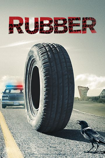 Rubber car tire standing on end