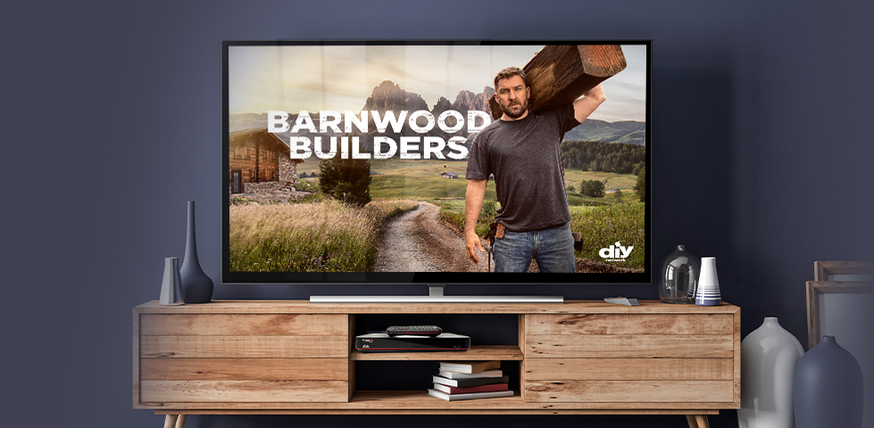 Barnwood Builders on DIY Network, included in the Flex Pack