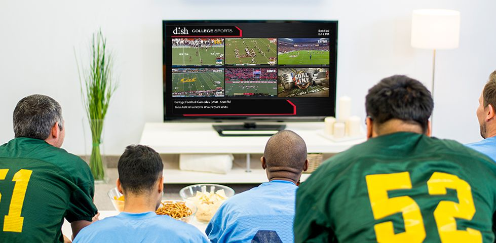 people watching six college sports games with DISH Multi-View