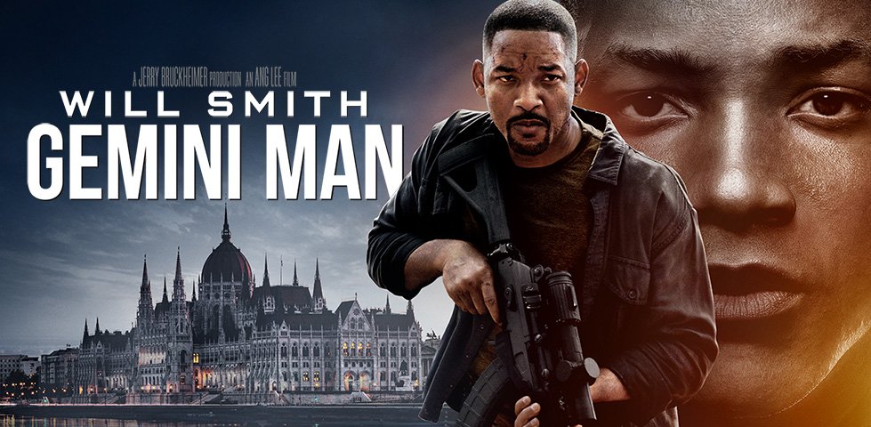 Will Smith cradling a rifle in Gemini Man