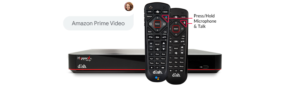 DISH Voice Remote with command to show Amazon Prime Video