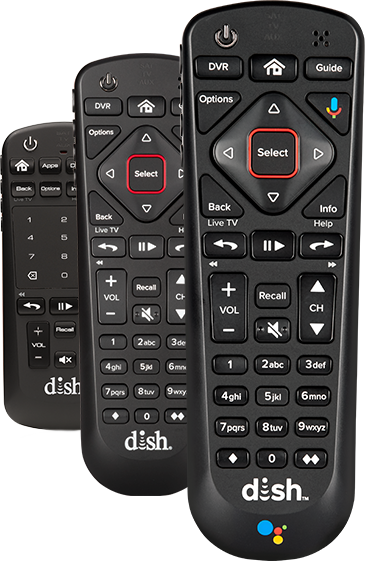 Voice remote with flat touchpad, and two voice remotes with diamond-shaped arrow pad
