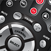 40.0 remote with four color buttons