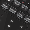 50.0 voice remote with flat touchpad