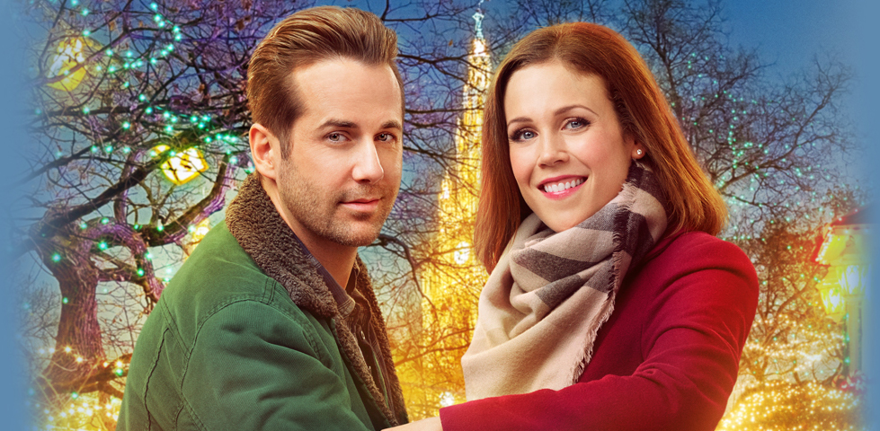 Erin Krakow and Niall Matter star in Engaging Father Christmas, on Hallmark Movies Now