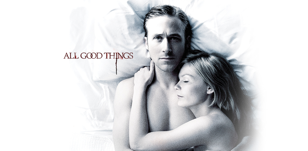 Kirsten Dunst asleep with her arm across Ryan Gosling's chest: All Good Things