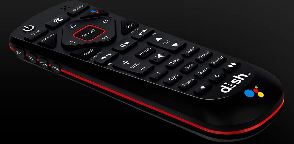 DISH Voice Remote with backlit keys