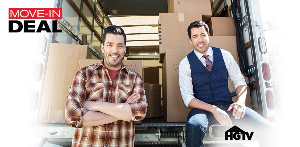 Property Brothers in a moving truck