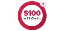 100 points to get $100 in bill credits
